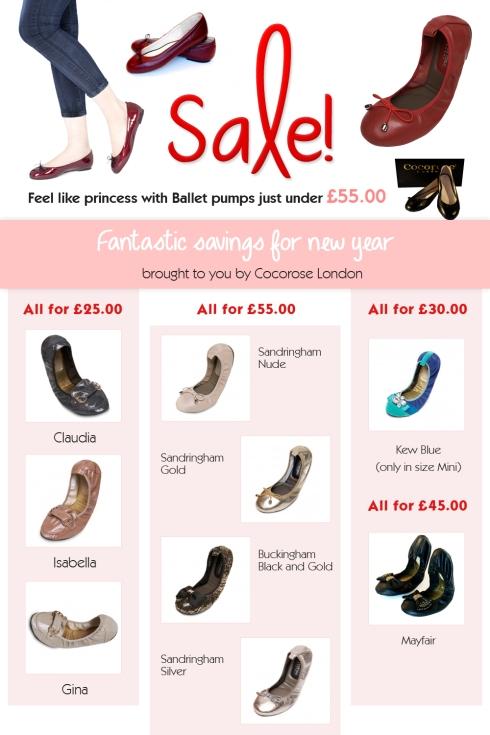 Ballet pumps sale at Cocorose London